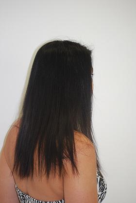 Coupe cheveux long vue de dos