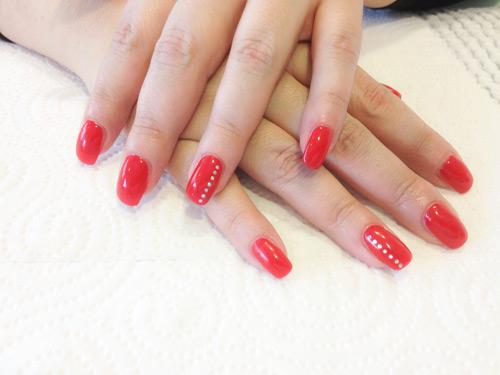 Vernis à ongles et beauté des mains \u2013 Espace coiffure et esthétique  Lausanne Vaud. manucure gel rouge rosé